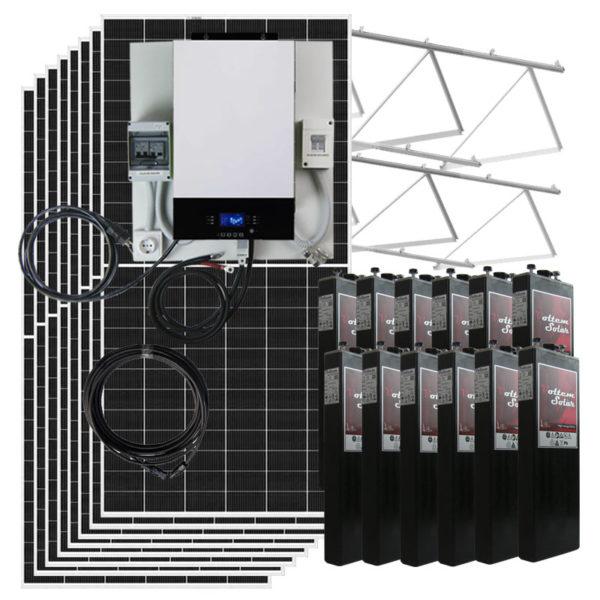 kit placas solares 12Kw al dia