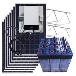 kit solar vivienda aislada 10000W con baterias