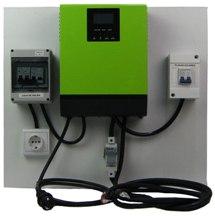 sistema premontado kit solar n3 para casa de campo