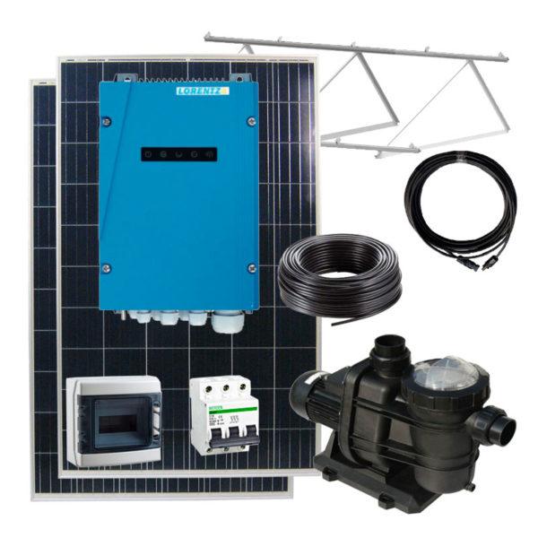 kit bombeo solar para depuradora de piscinas hasta 45 metros cubicos