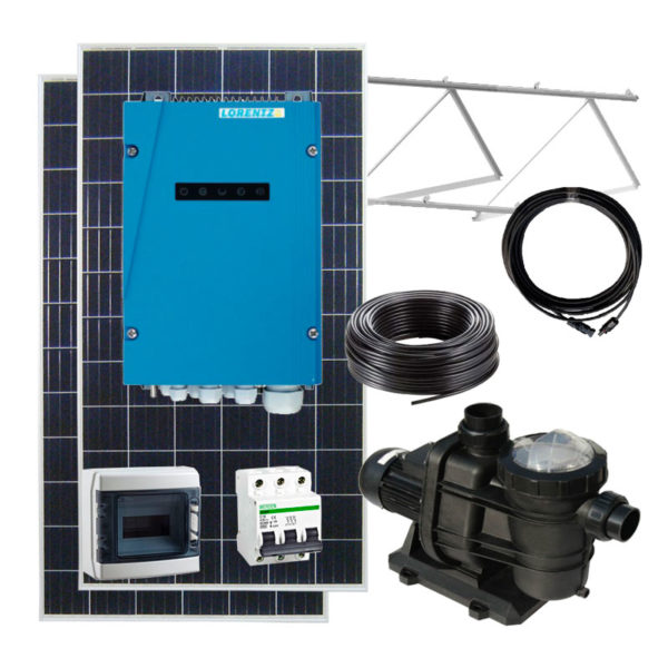 kit bombeo solar para depuradoras de piscina hasta 58m3