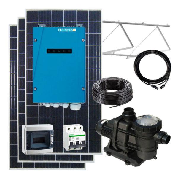 kit solar para depuradora de piscina 95 m3