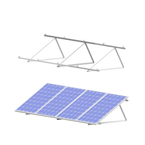 estructura inclinada para placas solares