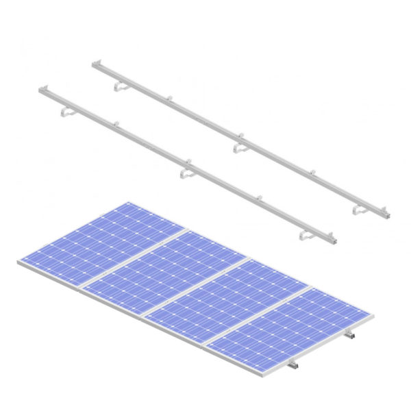 estructura integrada para placa solar