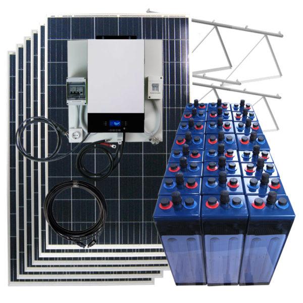 kit solar placas solares 48V 5Kw para vivienda aislada