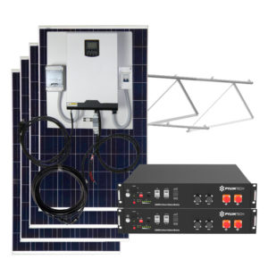 kit solar 4000w con baterias litio