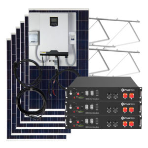 kit solar 7000w con baterias litio