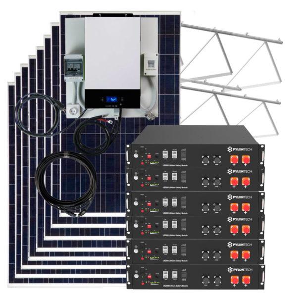 kit solar con baterias litio 17.000w