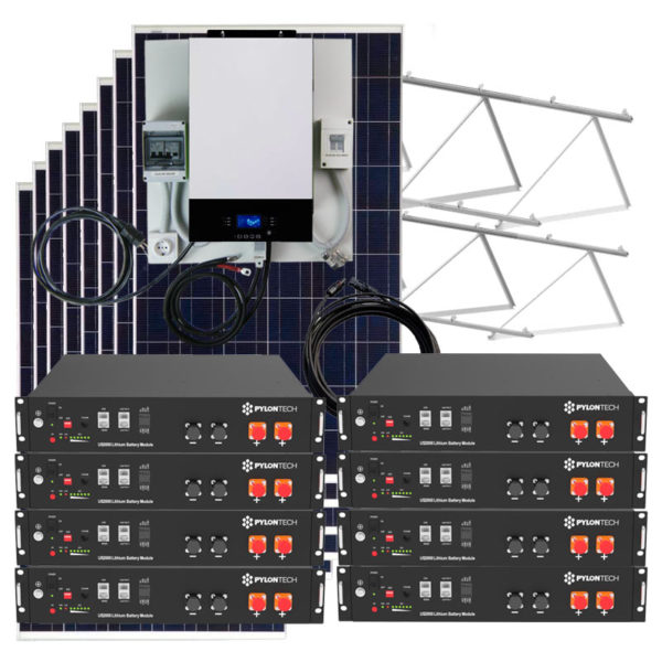 kit solar con baterias litio 19Kw