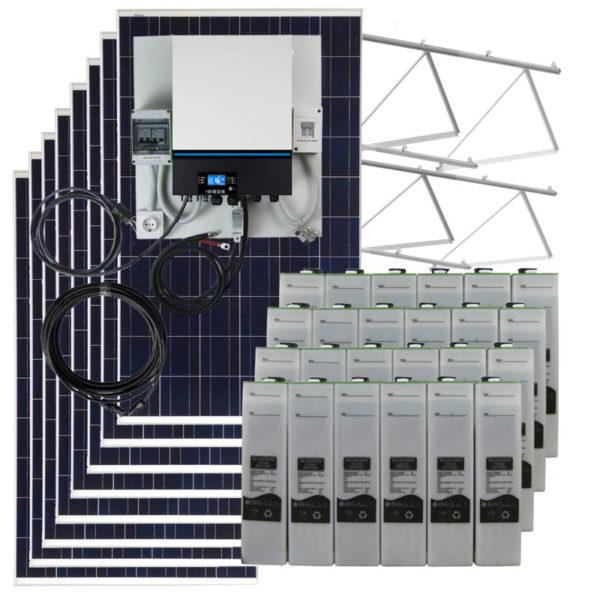 kit solar para vivienda aislada 7kw