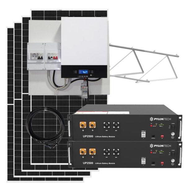 kit solar con baterias litio 8kw