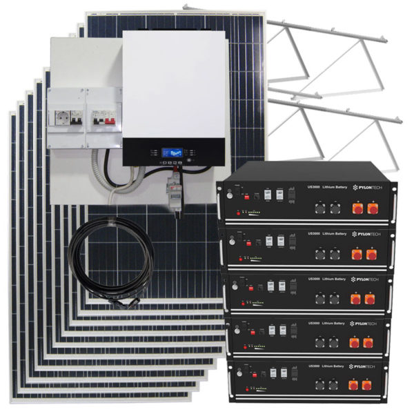 kit solar fotovoltaico 18kw con baterias de litio