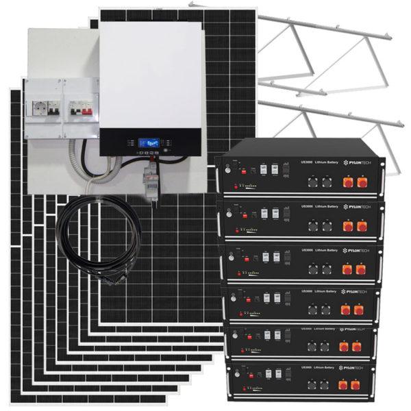 kit solar fotovoltaico 20kw con baterias de litio