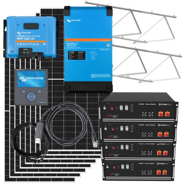 kit solar para vivienda aislada victron