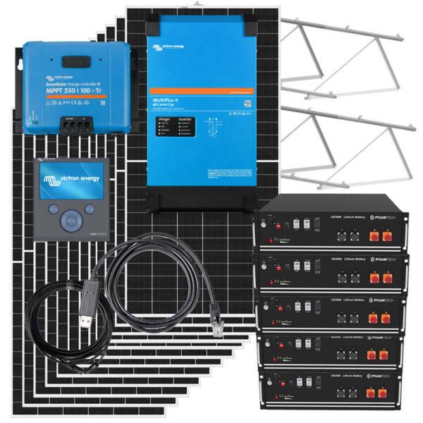 kit solar 25kw con inversor victron y bateria litio