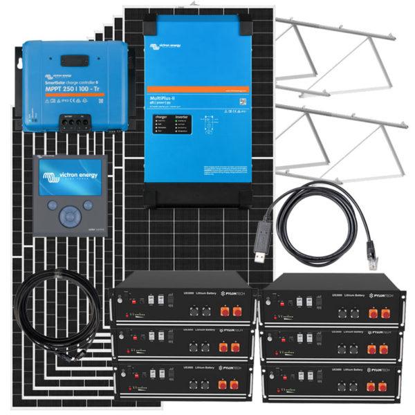 kit solar con inversor 10kw victron y bateria litio
