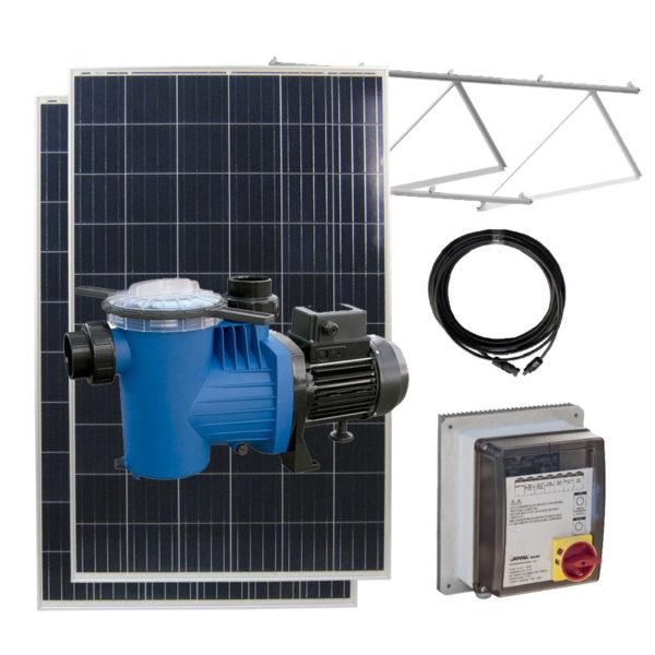 kit bomba solar depuradora piscina