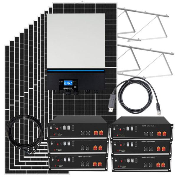 kit solar con bateria de litio 3600w
